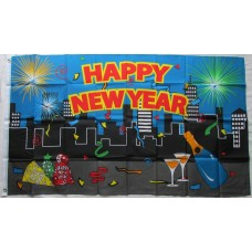 3' x 5' Happy New Year Flag