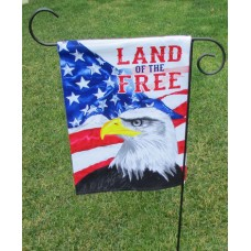 "13"" x 18"" Land of the Free Garden Flag"