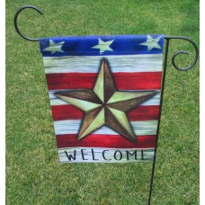 "13"" x 18"" Patriotic Barn Star Garden Flag"